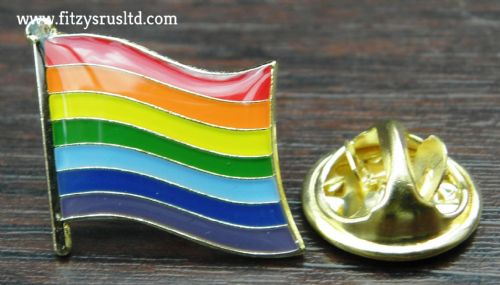 Rainbow Flag Lapel Pin Badge Pride LGBT Lesbian Gay Diversity Symbol Sign